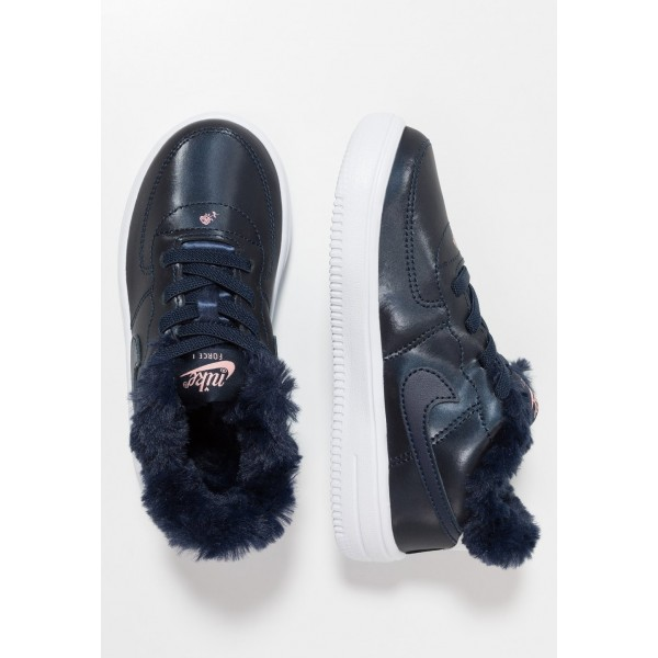 Nike FORCE 1 '18 VDAY - Mocassins obsidian/white/bleached coral liquidation