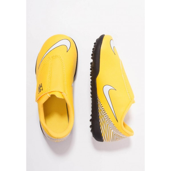 Nike MERCURIAL VAPORX 12 CLUB NJR TF - Chaussures de foot multicrampons amarillo/white/black liquidation