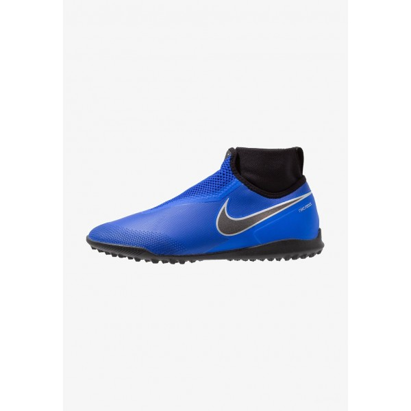 Black Friday 2020 | Nike PHANTOM REACT OBRA PRO TF - Chaussures de foot multicrampons racer blue/black/metallic silver/volt/white liquidation