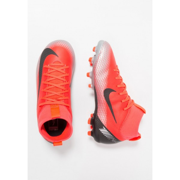 Black Friday 2020 | Nike MERCURIAL 6 ACADEMY GS FG/MG - Chaussures de foot à crampons bright crimson/black/chrome/dark grey liquidation