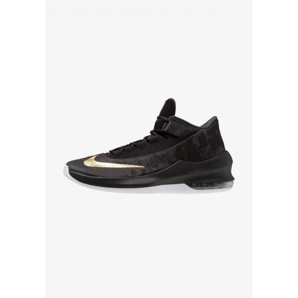 Nike AIR MAX INFURIATE 2 MID - Chaussures de basket anthracite/metallic gold/black/white liquidation