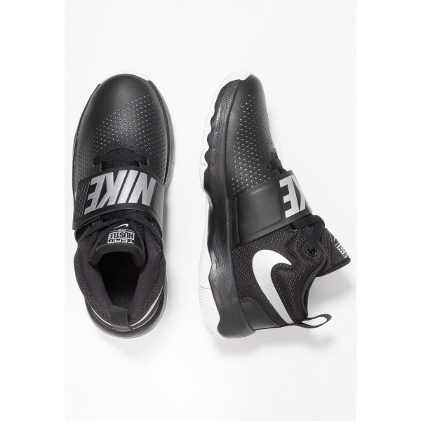 Nike TEAM HUSTLE D 8 - Chaussures de basket black/metallic silver/white liquidation