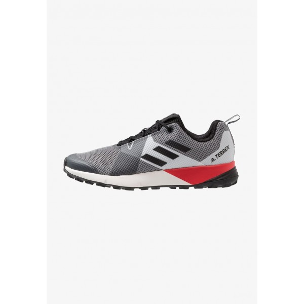 Adidas TERREX TWO - Chaussures de marche grey three/clear black/active red pas cher