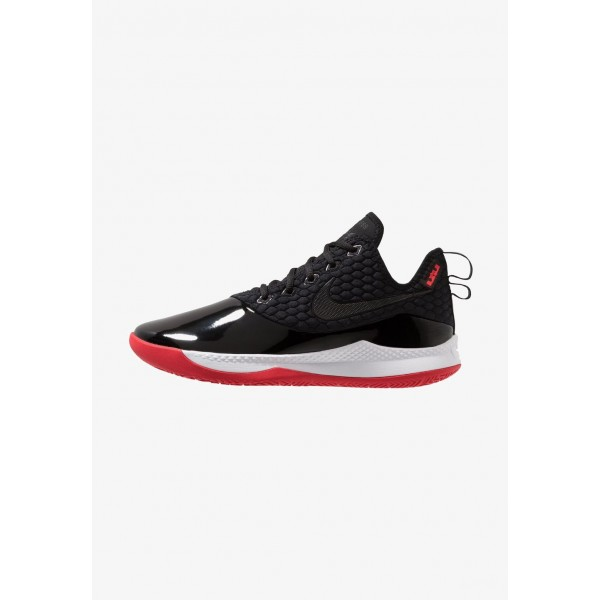 Nike LEBRON WITNESS III PRM - Chaussures de basket black/white/university red liquidation