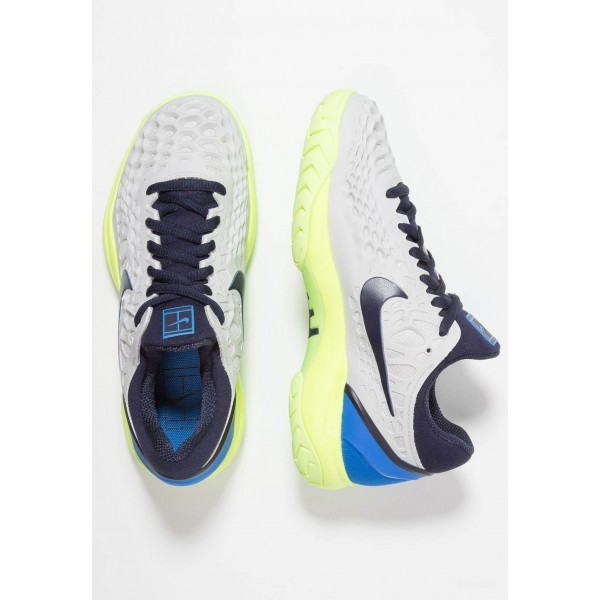 Nike AIR ZOOM CAGE 3 HC - Baskets tout terrain vast grey/blackened blue/signal blue liquidation