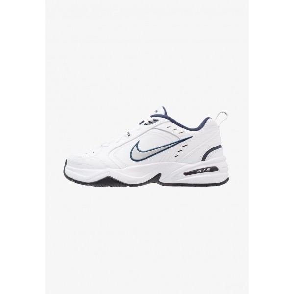 Nike AIR MONARCH IV - Baskets basses white/metallic silver liquidation