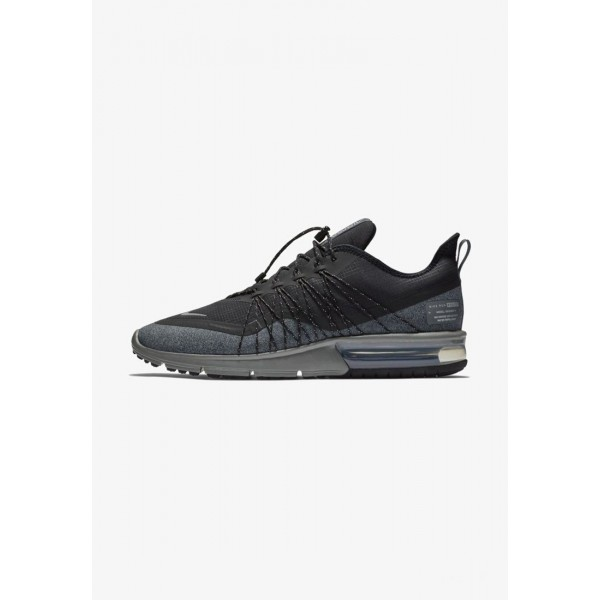 Nike AIR MAX SEQUENT 4 UTILITY - Chaussures de running neutres black/dark grey/metallic silver liquidation