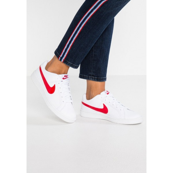 Nike COURT ROYALE - Baskets basses white/university red liquidation