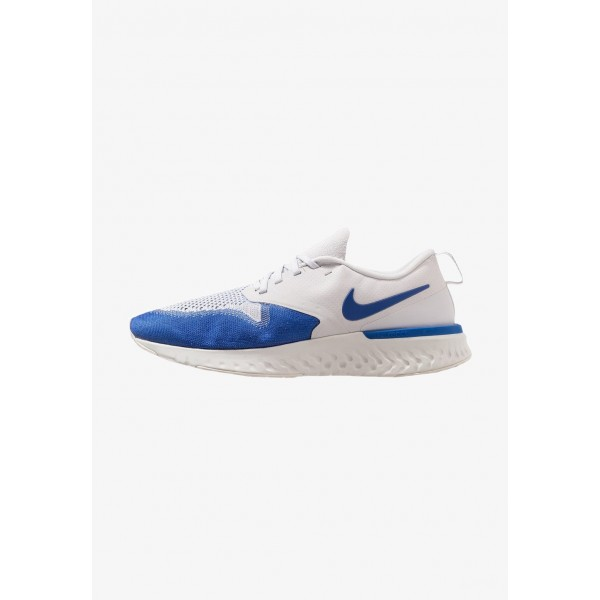 Nike ODYSSEY REACT 2 FLYKNIT - Chaussures de running neutres vast grey/game royal/platinum tint/white liquidation