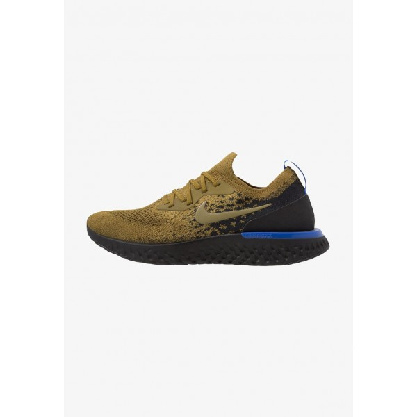 Black Friday 2020 | Nike EPIC REACT FLYKNIT - Chaussures de running neutres olive flak/black/hyper royal/hyper crimson liquidation