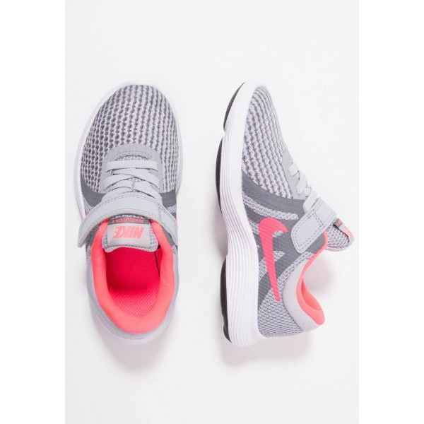 Nike REVOLUTION 4 - Chaussures de running neutres wolf grey/racer pink/cool grey/white liquidation