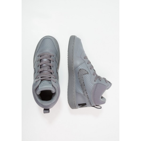 Nike COURT BOROUGH MID - Baskets montantes cool grey/black liquidation