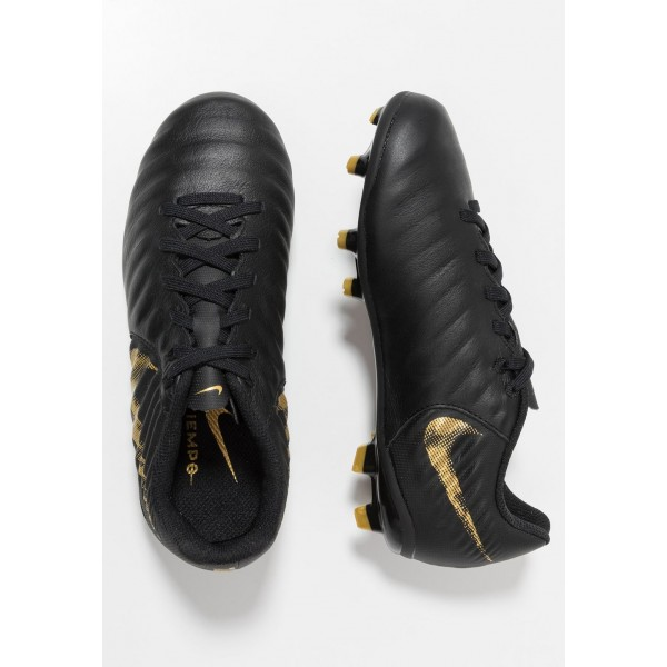 Nike TIEMPO LEGEND 7 ACADEMY MG - Chaussures de foot à crampons black/metallic vivid gold liquidation