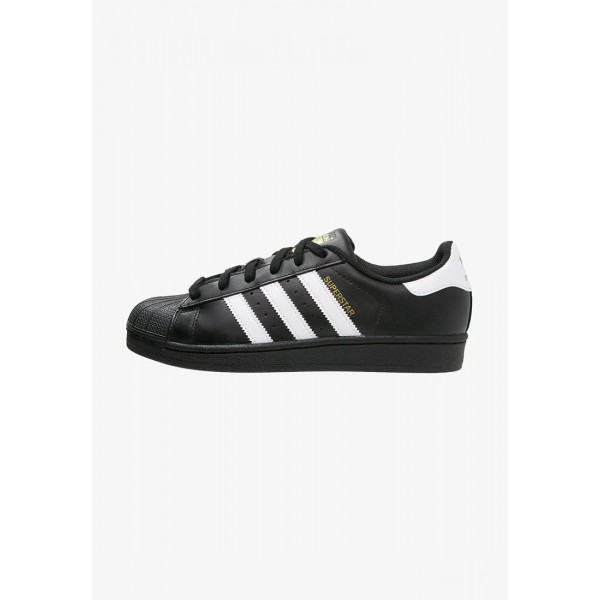 Adidas SUPERSTAR FOUNDATION - Baskets basses noir / blanc pas cher