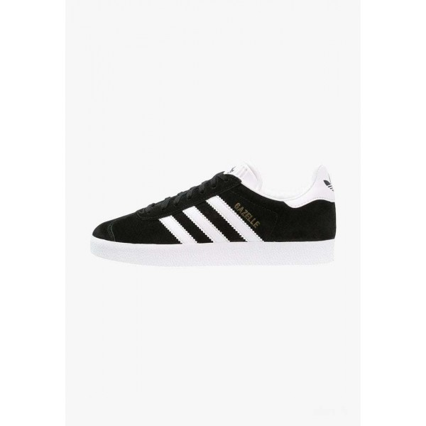 Adidas GAZELLE - Baskets basses core black/white/gold metallic pas cher