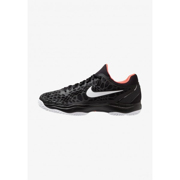 Black Friday 2020 | Nike AIR ZOOM CAGE 3 HC - Chaussures de tennis sur terre battue black/white/bright crimson liquidation