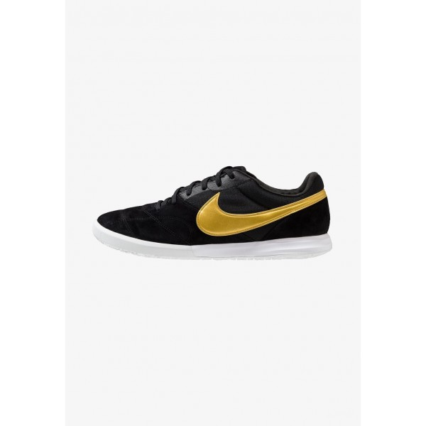 Black Friday 2020 | Nike THE PREMIER II SALA - Chaussures de foot en salle black/metallic vivid gold/white liquidation