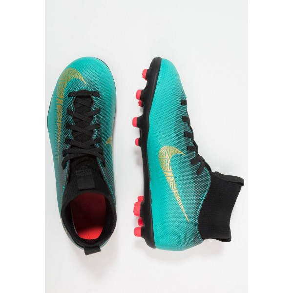 Nike CLUB CR7 MG - Chaussures de foot à crampons clear jade/metallic vivid gold/black/hyper turquoise/solar red liquidation