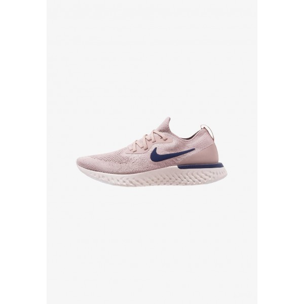 Nike EPIC REACT FLYKNIT - Chaussures de running neutres diffused taupe/blue void/phantom/crimson tint liquidation
