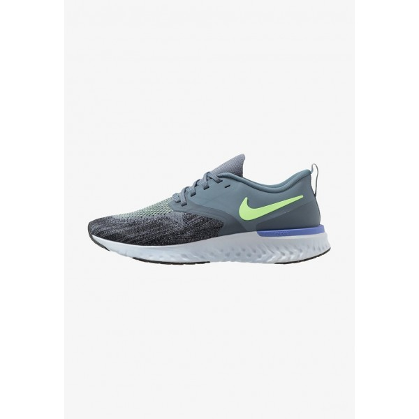 Black Friday 2020 | Nike ODYSSEY REACT 2 FLYKNIT - Chaussures de running neutres armory blue/black/half blue/lime blast/leche blue liquidation