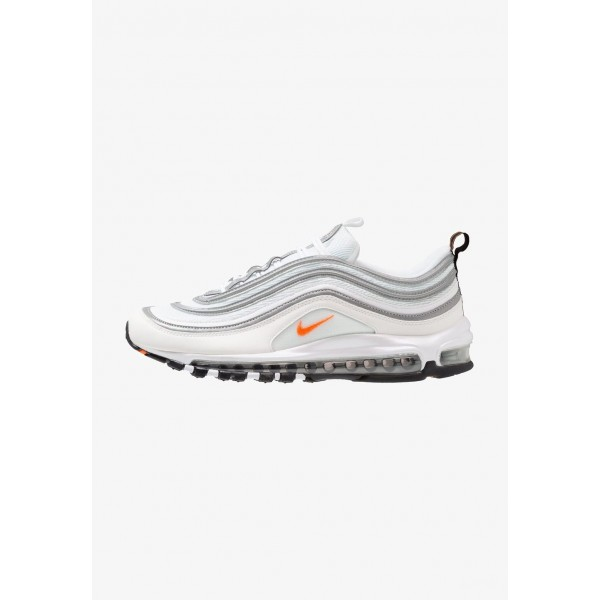 Nike AIR MAX 97 - Baskets basses white/cone/metallic silver liquidation