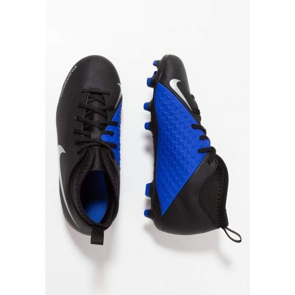 Nike PHANTOM JR OBRA 3 CLUB DF MG - Chaussures de foot à crampons black/metallic silver/racer blue liquidation