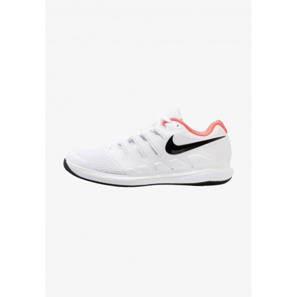 Nike AIR ZOOM VAPOR X HC - Baskets tout terrain white/black/bright crimson liquidation