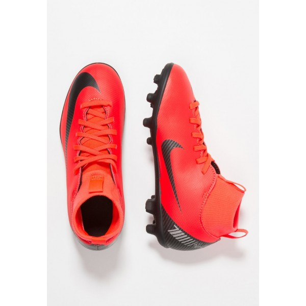 Nike CLUB CR7 MG - Chaussures de foot à crampons bright crimson/black/chrome liquidation