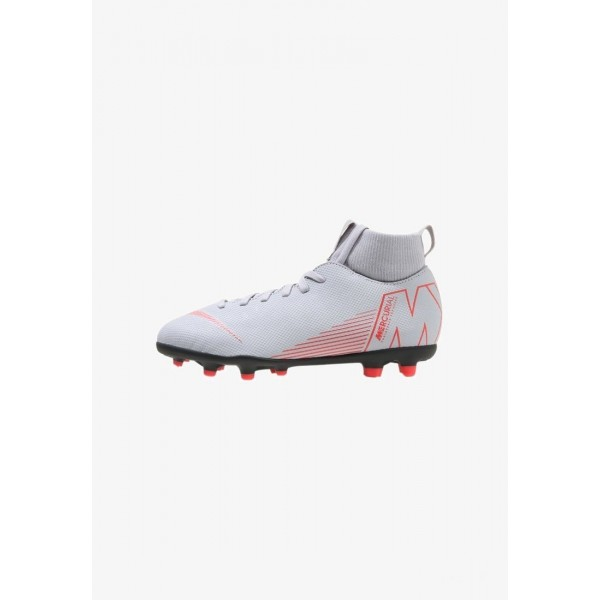 Nike CLUB MG - Chaussures de foot à crampons wolf grey/light crimson/black liquidation