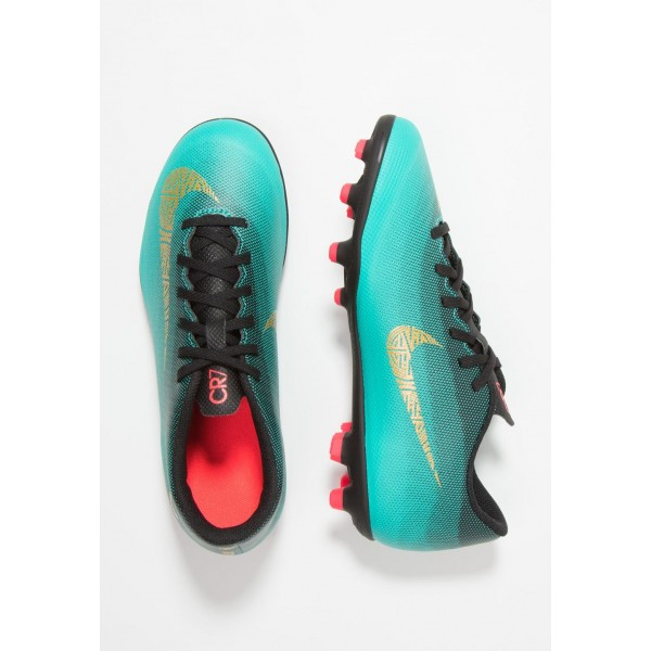 Nike VAPOR 12 CLUB CR7 MG - Chaussures de foot à crampons clear jade/metallic vivid gold/black/hyper turquoise/solar red liquidation