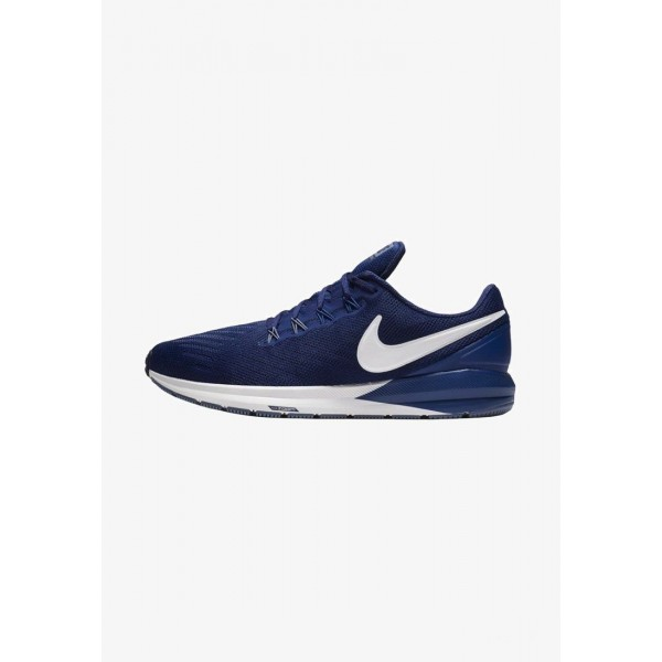 Black Friday 2020 | Nike AIR ZOOM STRUCTURE  - Chaussures de running stables dark blue/royal blue liquidation