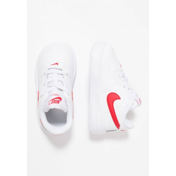 Nike FORCE 1 18 - Chaussures premiers pas white/university red liquidation