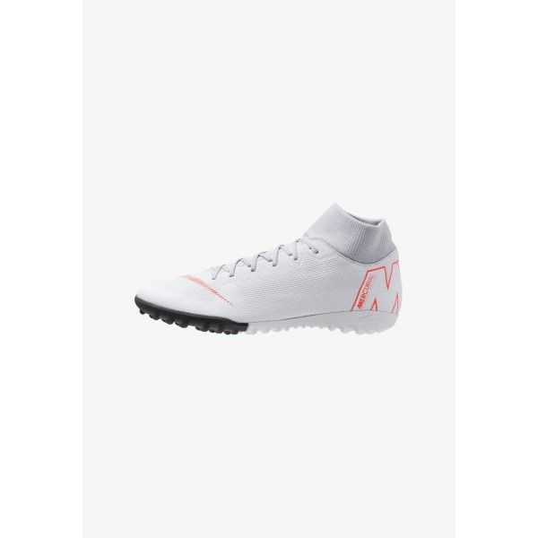 Black Friday 2020 | Nike MERCURIAL SUPERFLYX 6 ACADEMY TF - Chaussures de foot multicrampons wolf grey/light crimson/pure platinum/metallic silver liquidation