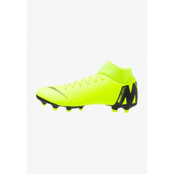 Nike MERCURIAL 6 ACADEMY MG - Chaussures de foot à crampons volt/black liquidation