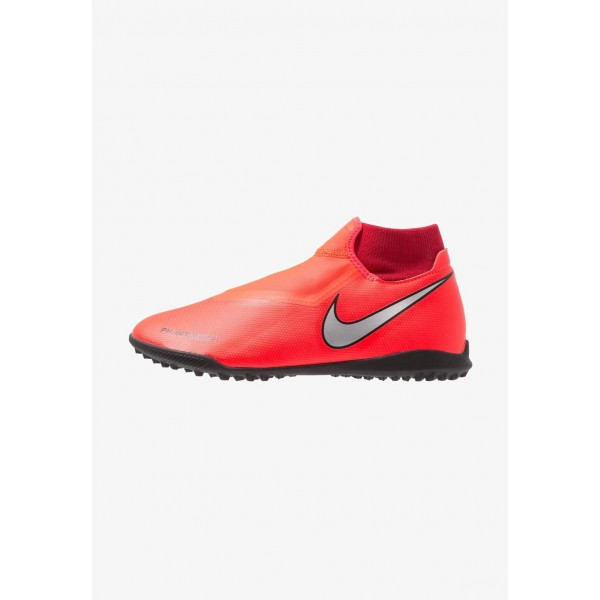 Black Friday 2020 | Nike PHANTOM OBRAX 3 ACADEMY DF TF - Chaussures de foot multicrampons bright crimson/metalic silver/university red/black liquidation