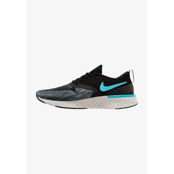Black Friday 2020 | Nike ODYSSEY REACT 2 FLYKNIT - Chaussures de running neutres black/blue fury/aviator grey/platinum tint/yellow liquidation