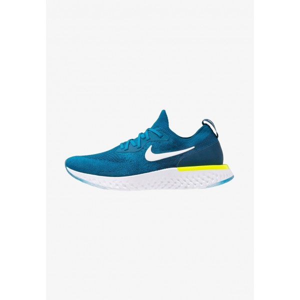 Nike EPIC REACT FLYKNIT - Chaussures de running neutres green abyss/white/blue force/volt liquidation