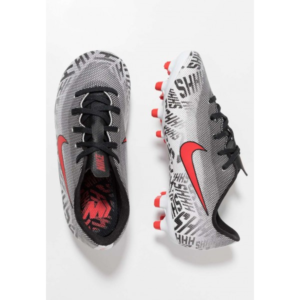 Nike MERCURIAL VAPOR 12 ACADEMY NJR MG - Chaussures de foot à crampons white/challenge red/black liquidation