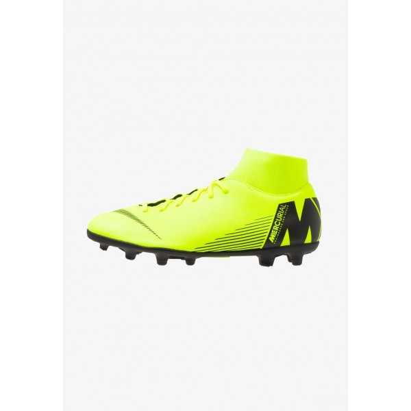 Nike MERCURIAL 6 CLUB MG - Chaussures de foot à crampons volt/black liquidation
