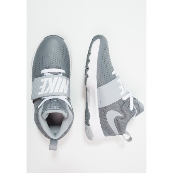 Nike TEAM HUSTLE D 8 - Chaussures de basket cool grey/wolf grey/white liquidation