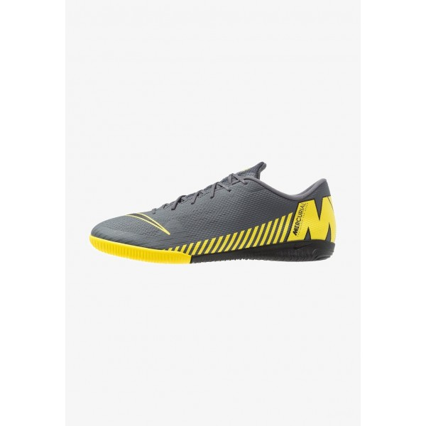 Black Friday 2020 | Nike MERCURIAL VAPORX 12 ACADEMY IC - Chaussures de foot en salle dark grey/black/opti yellow liquidation