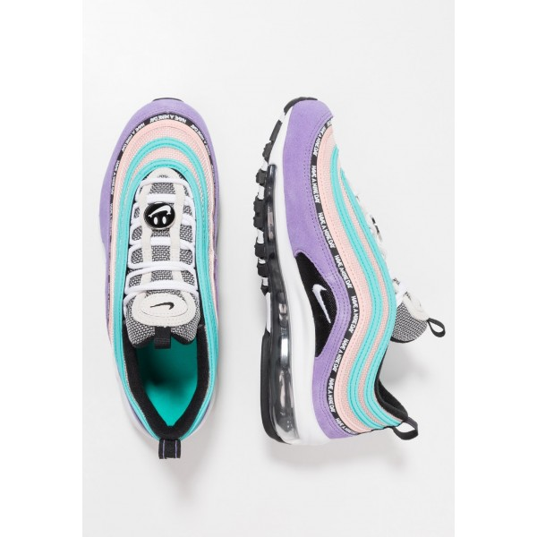 Nike AIR MAX 97 SE - Baskets basses space purple/white/black/bleached coral liquidation