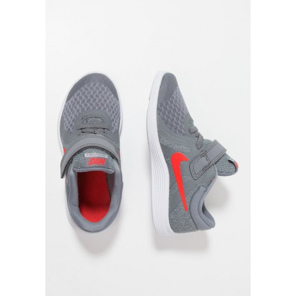 Nike REVOLUTION 4 - Chaussures de running neutres cool grey/habanero red/wolf grey/white liquidation