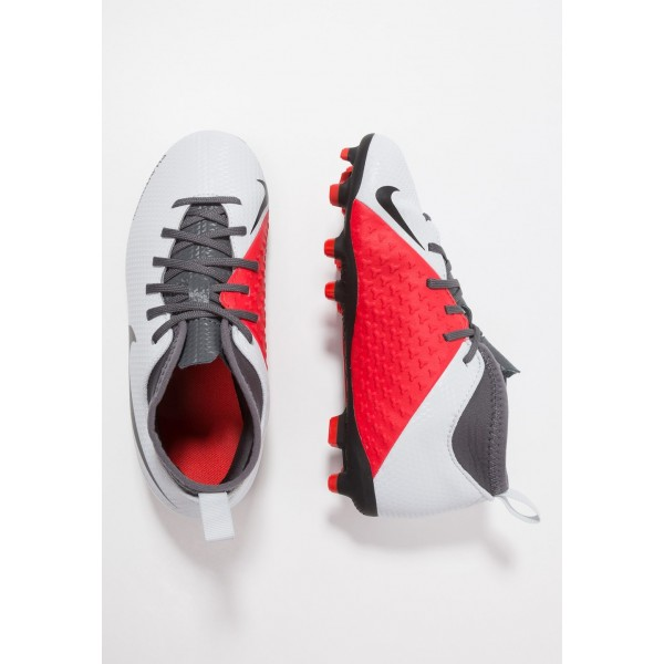 Nike PHANTOM JR OBRA 3 CLUB DF MG - Chaussures de foot à crampons wolf grey/black/light crimson liquidation