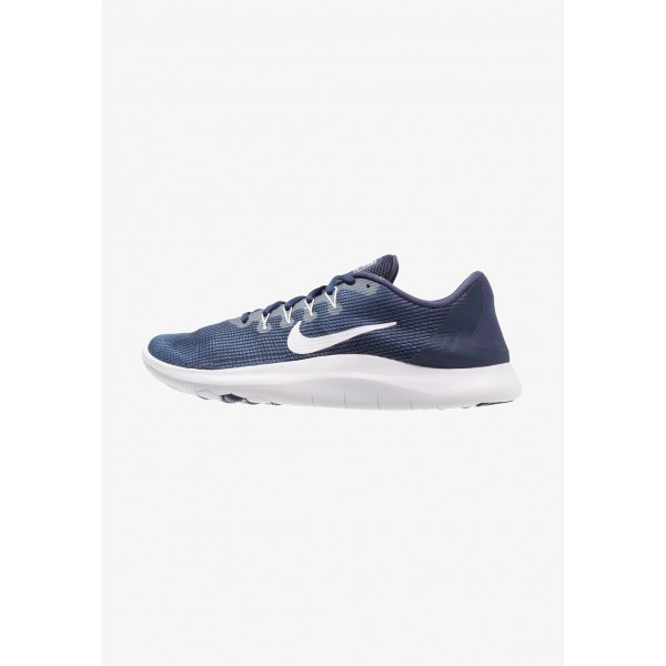 Nike FLEX 2018 RUN - Chaussures de course neutres midnight navy/white/blue recal liquidation