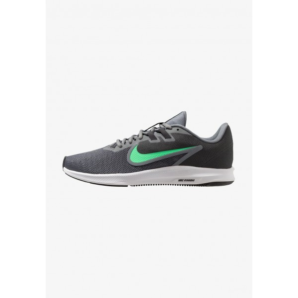 Nike DOWNSHIFTER 9 - Chaussures de running neutres cool grey/electro green/anthracite/black liquidation