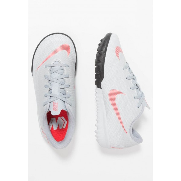 Nike MERCURIAL VAPORX 12 ACADEMY TF - Chaussures de foot multicrampons wolf grey/lightt crimson/pure platinum/metallic silver liquidation