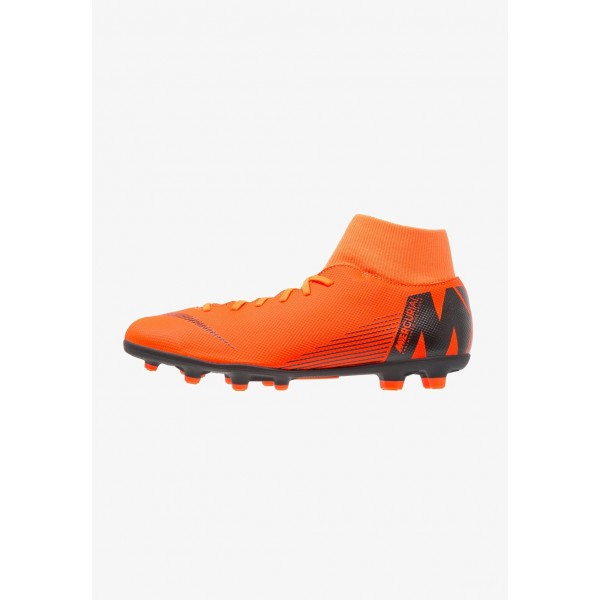Cadeaux De Noël 2019 Nike MERCURIAL 6 CLUB MG - Chaussures de foot à crampons total orange/white/volt/black liquidation