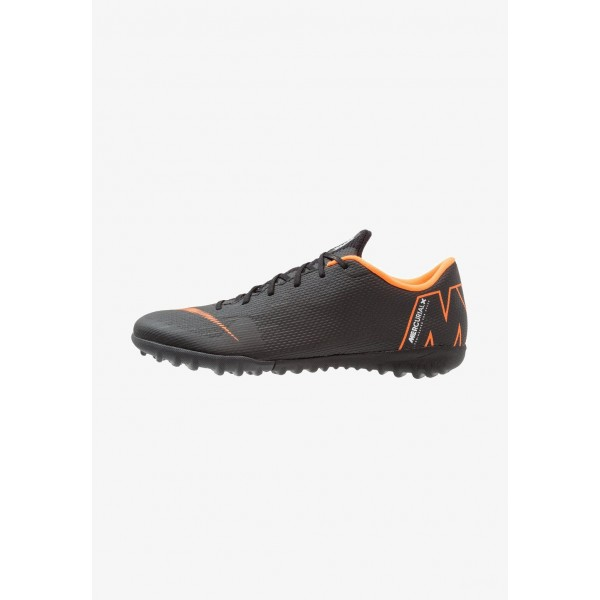 Nike MERCURIAL VAPORX 12 ACADEMY TF - Chaussures de foot multicrampons black/total orange/white liquidation