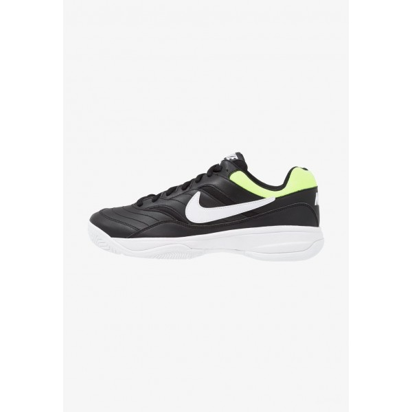 Nike COURT LITE - Baskets tout terrain black/white/volt glow liquidation